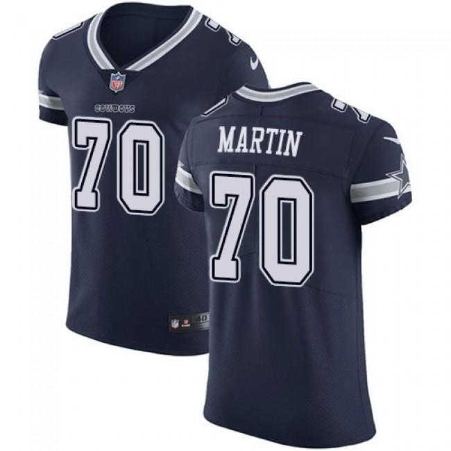 Nike Cowboys #70 Zack Martin Navy Blue Team Color Men's Stitched NFL Vapor Untouchable Elite Jersey