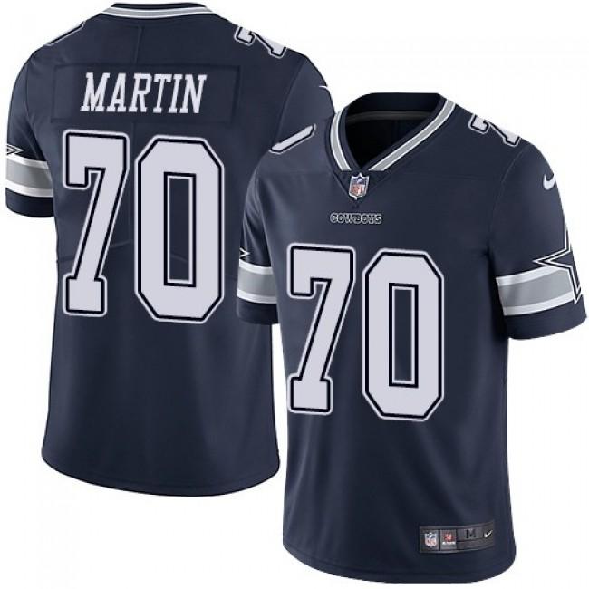 Nike Cowboys #70 Zack Martin Navy Blue Team Color Men's Stitched NFL Vapor Untouchable Limited Jersey