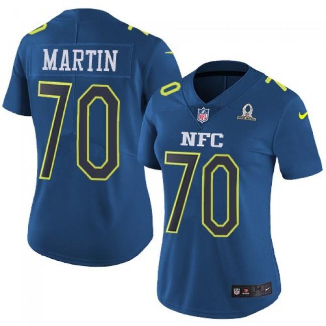 Women's Cowboys #70 Zack Martin Navy Stitched NFL Limited NFC 2017 Pro Bowl Jersey