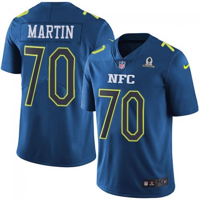 Dallas Cowboys #70 Zack Martin Navy Youth Stitched NFL Limited NFC 2017 Pro Bowl Jersey