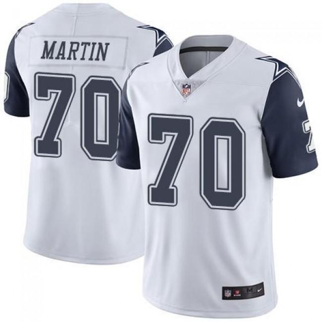 Nike Cowboys #70 Zack Martin White Men's Stitched NFL Limited Rush Jersey