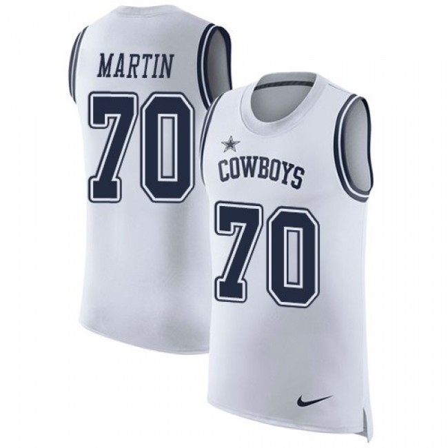 Nike Cowboys #70 Zack Martin White Men's Stitched NFL Limited Rush Tank Top Jersey