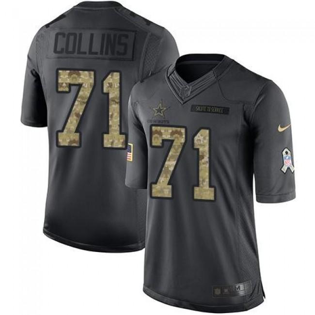 Nike Cowboys #71 La'el Collins Black Men's Stitched NFL Limited 2016 Salute To Service Jersey
