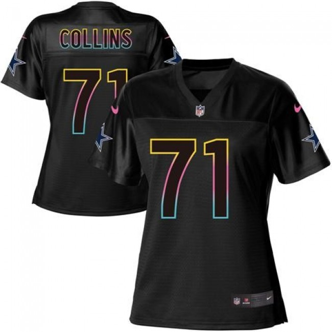 Women's Cowboys #71 La'el Collins Black NFL Game Jersey