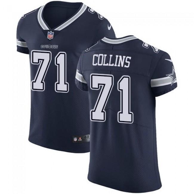 Nike Cowboys #71 La'el Collins Navy Blue Team Color Men's Stitched NFL Vapor Untouchable Elite Jersey