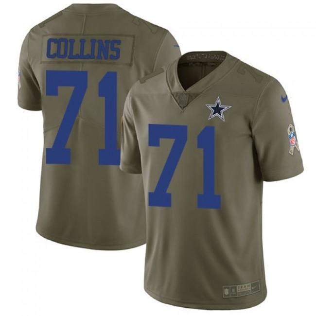 Nike Cowboys #71 La'el Collins Olive Men's Stitched NFL Limited 2017 Salute To Service Jersey