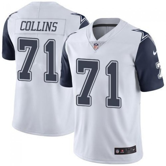 Dallas Cowboys #71 La el Collins White Youth Stitched NFL Limited Rush Jersey