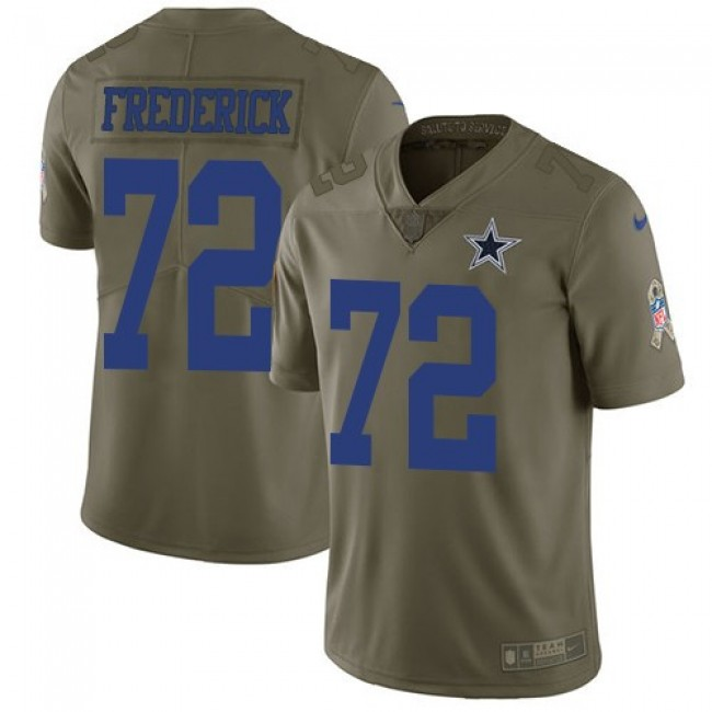 Nike Cowboys #72 Travis Frederick Olive Men's Stitched NFL Limited 2017 Salute To Service Jersey