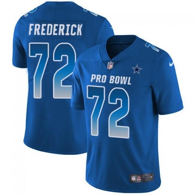 Women's Cowboys #72 Travis Frederick Royal Stitched NFL Limited NFC 2018 Pro Bowl Jersey