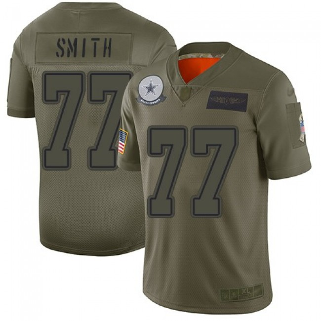 Nike Cowboys #77 Tyron Smith Camo Men's Stitched NFL Limited 2019 Salute To Service Jersey