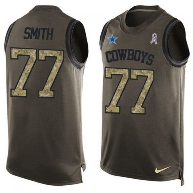 Nike Cowboys #77 Tyron Smith Green Men's Stitched NFL Limited Salute To Service Tank Top Jersey