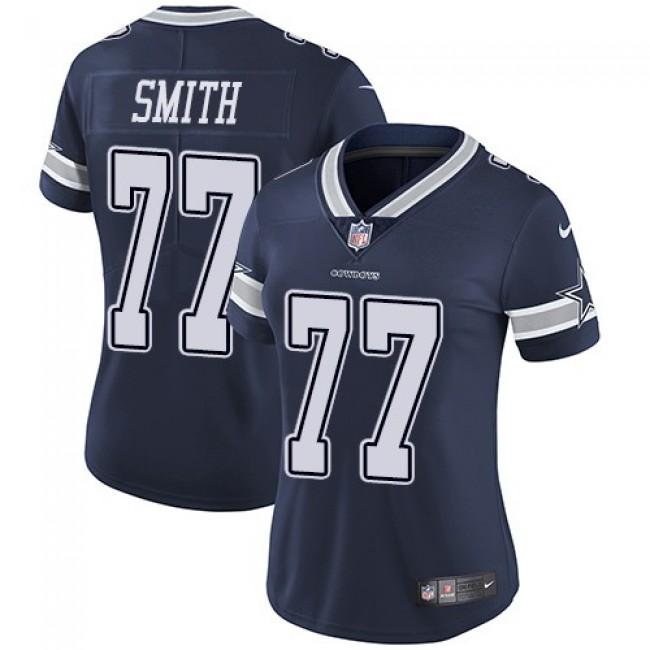 Women's Cowboys #77 Tyron Smith Navy Blue Team Color Stitched NFL Vapor Untouchable Limited Jersey