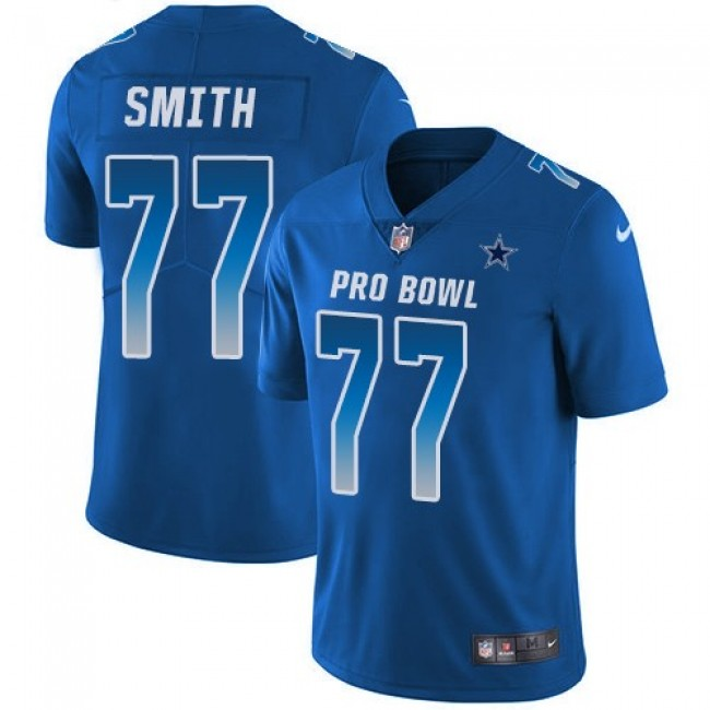 Dallas Cowboys #77 Tyron Smith Royal Youth Stitched NFL Limited NFC 2018 Pro Bowl Jersey