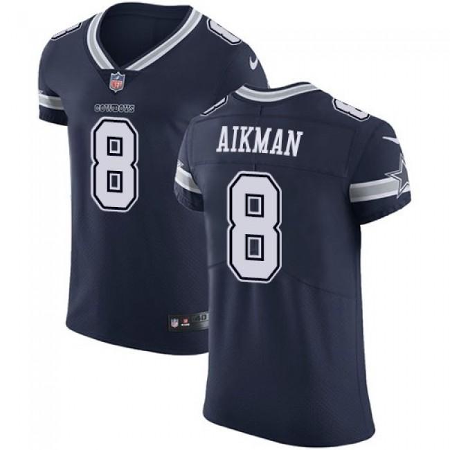 Nike Cowboys #8 Troy Aikman Navy Blue Team Color Men's Stitched NFL Vapor Untouchable Elite Jersey