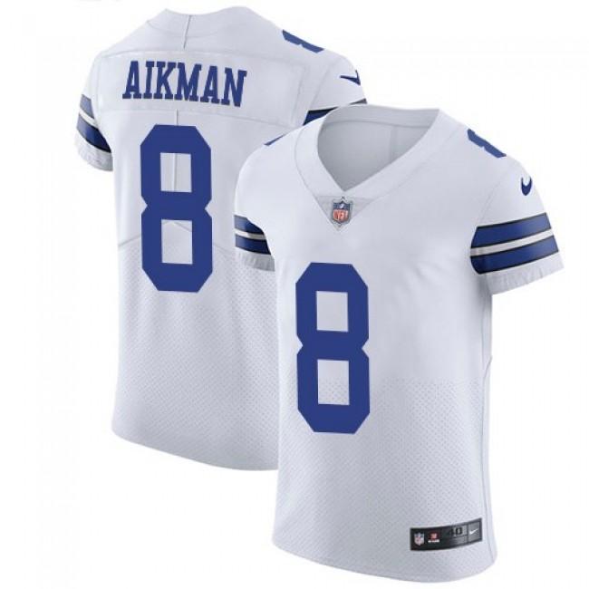 Nike Cowboys #8 Troy Aikman White Men's Stitched NFL Vapor Untouchable Elite Jersey