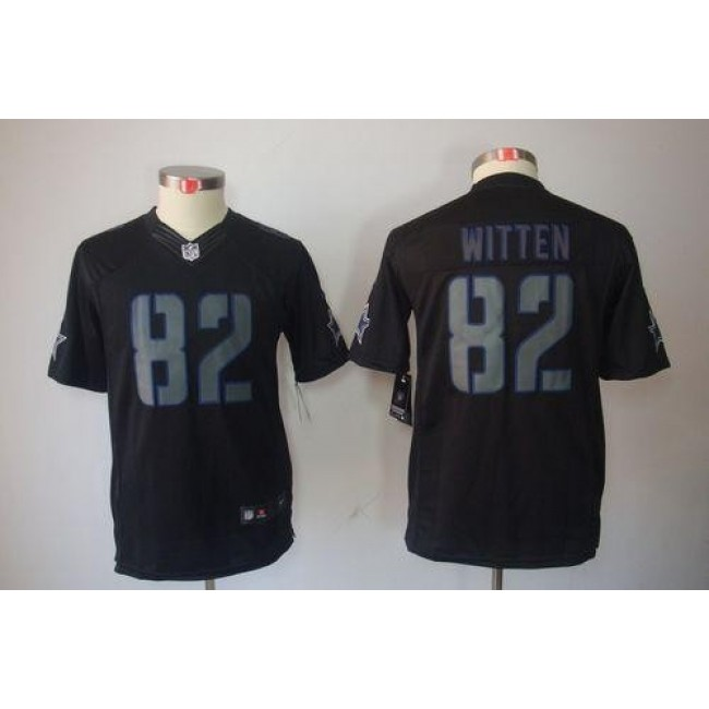 Dallas Cowboys #82 Jason Witten Black Impact Youth Stitched NFL Limited Jersey