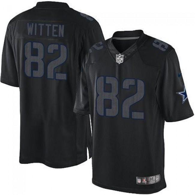 Nike Cowboys #82 Jason Witten Black Men's Stitched NFL Impact Limited Jersey