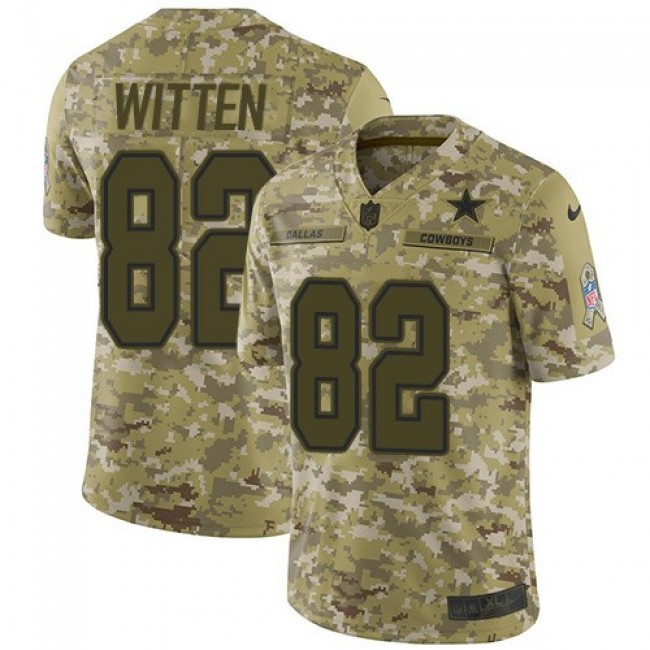 Nike Cowboys #82 Jason Witten Camo Men's Stitched NFL Limited 2018 Salute To Service Jersey