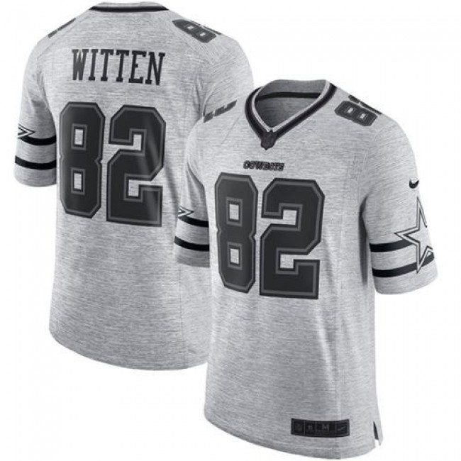 Nike Cowboys #82 Jason Witten Gray Men's Stitched NFL Limited Gridiron Gray II Jersey