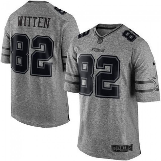 Nike Cowboys #82 Jason Witten Gray Men's Stitched NFL Limited Gridiron Gray Jersey