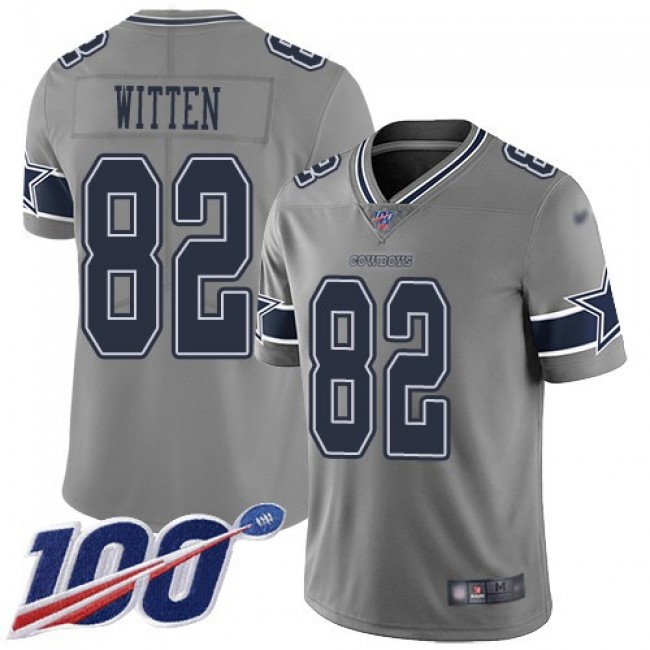 Nike Cowboys #82 Jason Witten Gray Men's Stitched NFL Limited Inverted Legend 100th Season Jersey