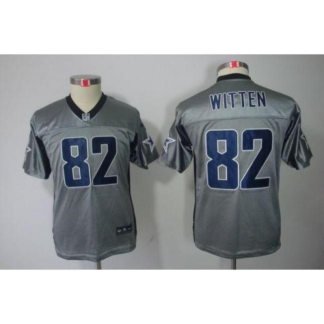 Dallas Cowboys #82 Jason Witten Grey Shadow Youth Stitched NFL Elite Jersey