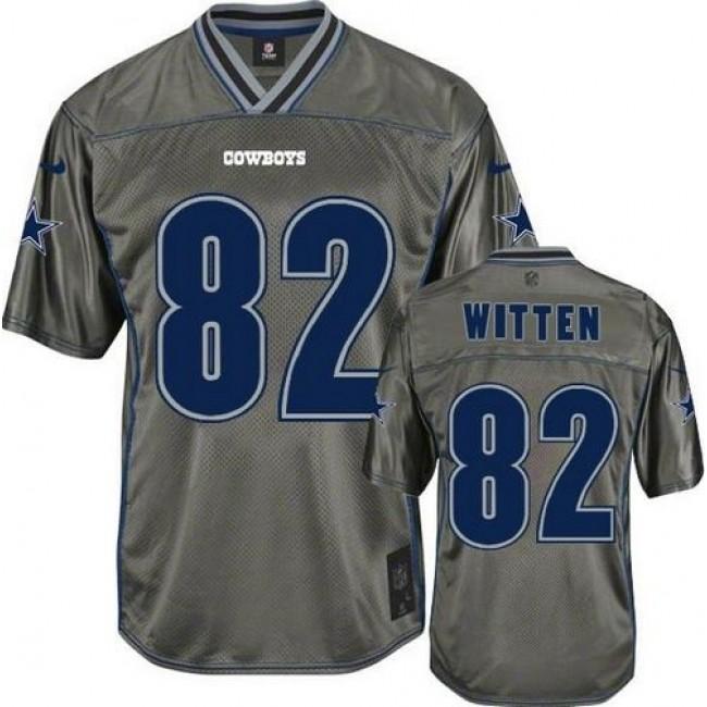 Dallas Cowboys #82 Jason Witten Grey Youth Stitched NFL Elite Vapor Jersey