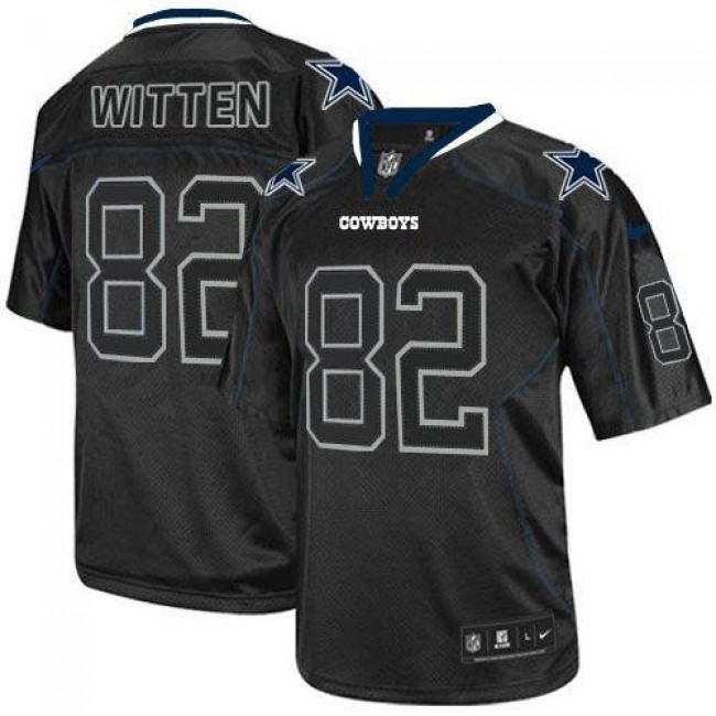 Dallas Cowboys #82 Jason Witten Lights Out Black Youth Stitched NFL Elite Jersey