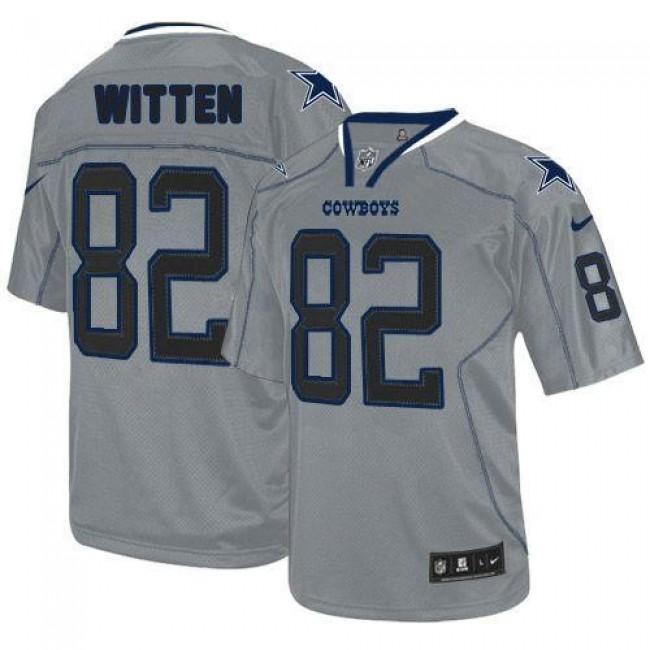 Nike Cowboys #82 Jason Witten Lights Out Grey Men's Stitched NFL Elite Jersey