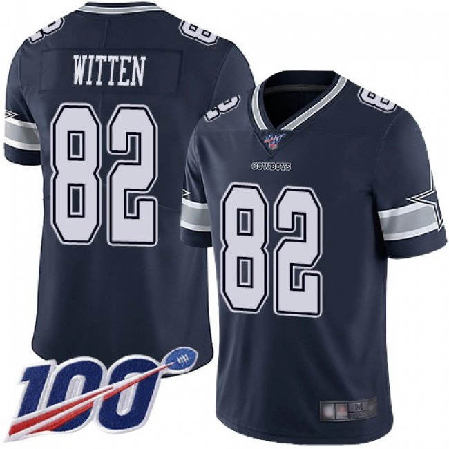 Nike Cowboys #82 Jason Witten Navy Blue Team Color Men's Stitched NFL 100th Season Vapor Limited Jersey