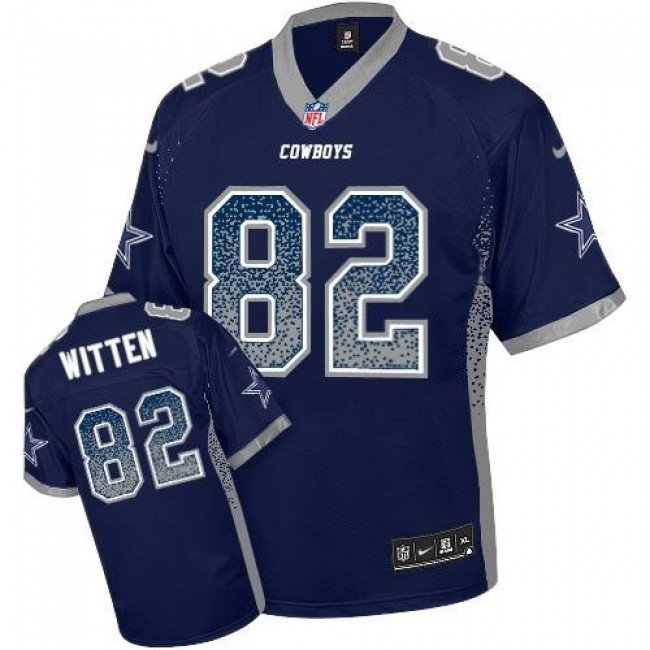 Nike Cowboys #82 Jason Witten Navy Blue Team Color Men's Stitched NFL Elite Drift Fashion Jersey
