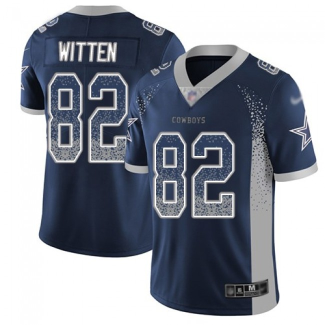 Nike Cowboys #82 Jason Witten Navy Blue Team Color Men's Stitched NFL Limited Rush Drift Fashion Jersey
