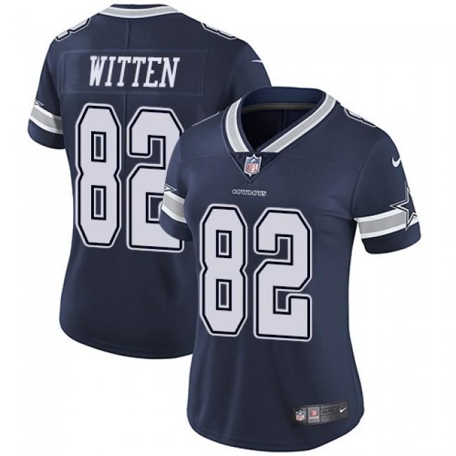 Women's Cowboys #82 Jason Witten Navy Blue Team Color Stitched NFL Vapor Untouchable Limited Jersey