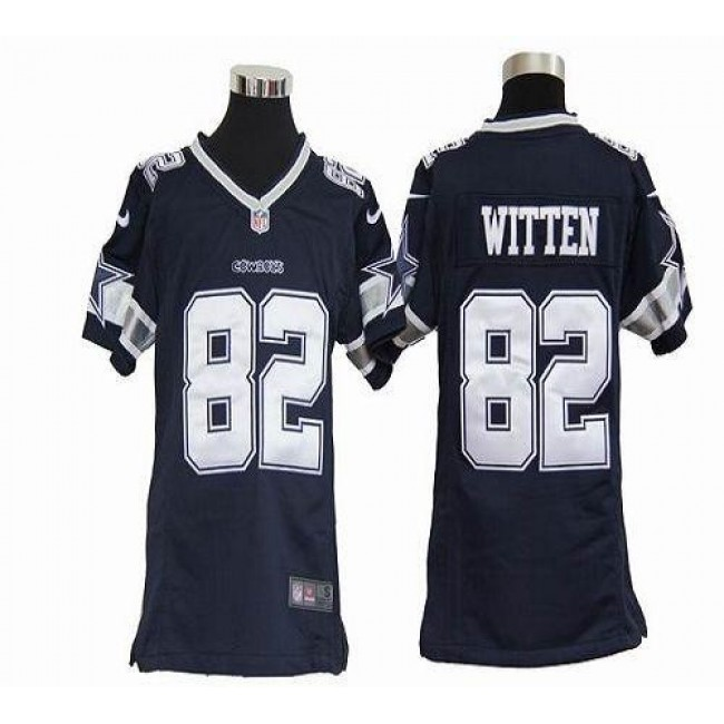 Dallas Cowboys #82 Jason Witten Navy Blue Team Color Youth Stitched NFL Elite Jersey