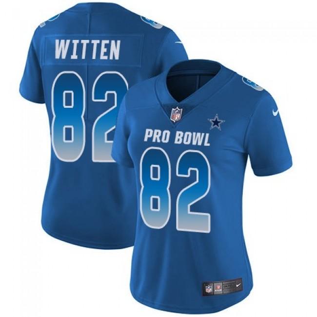 Women's Cowboys #82 Jason Witten Royal Stitched NFL Limited NFC 2018 Pro Bowl Jersey