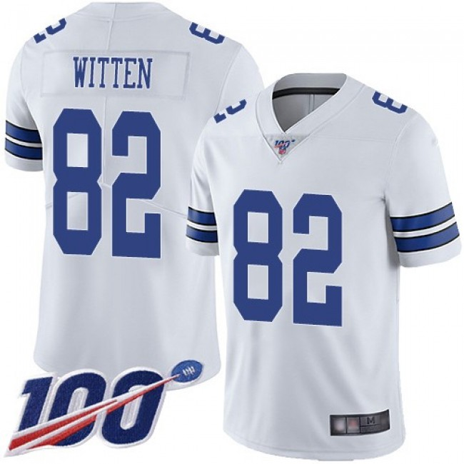 Nike Cowboys #82 Jason Witten White Men's Stitched NFL 100th Season Vapor Limited Jersey