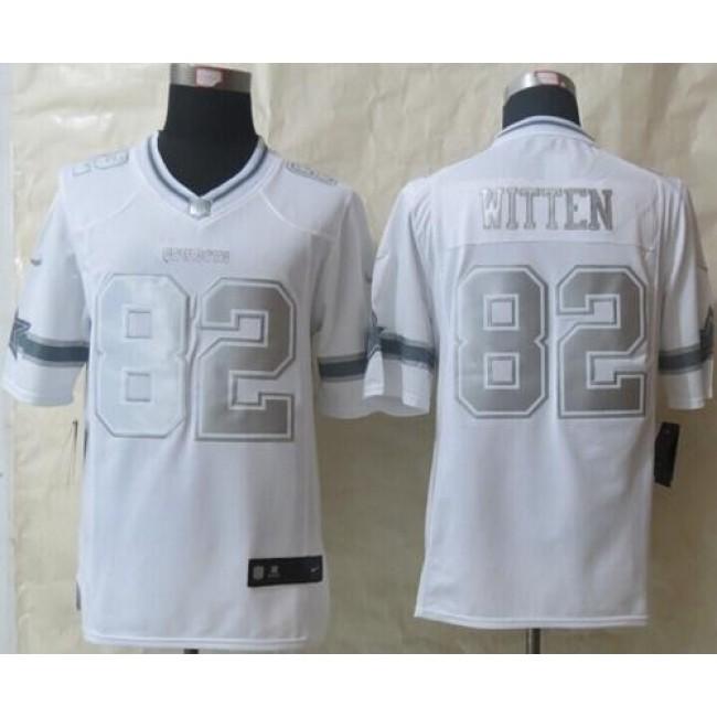 Nike Cowboys #82 Jason Witten White Men's Stitched NFL Limited Platinum Jersey