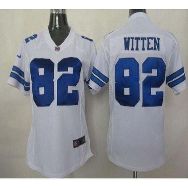Women's Cowboys #82 Jason Witten White Stitched NFL Elite Jersey