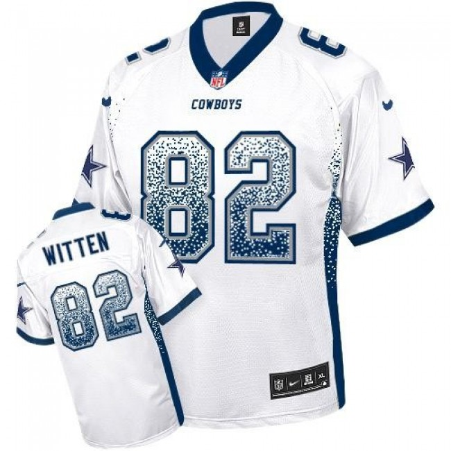 Dallas Cowboys #82 Jason Witten White Youth Stitched NFL Elite Drift Fashion Jersey