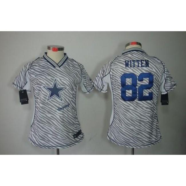 Women's Cowboys #82 Jason Witten Zebra Stitched NFL Elite Jersey