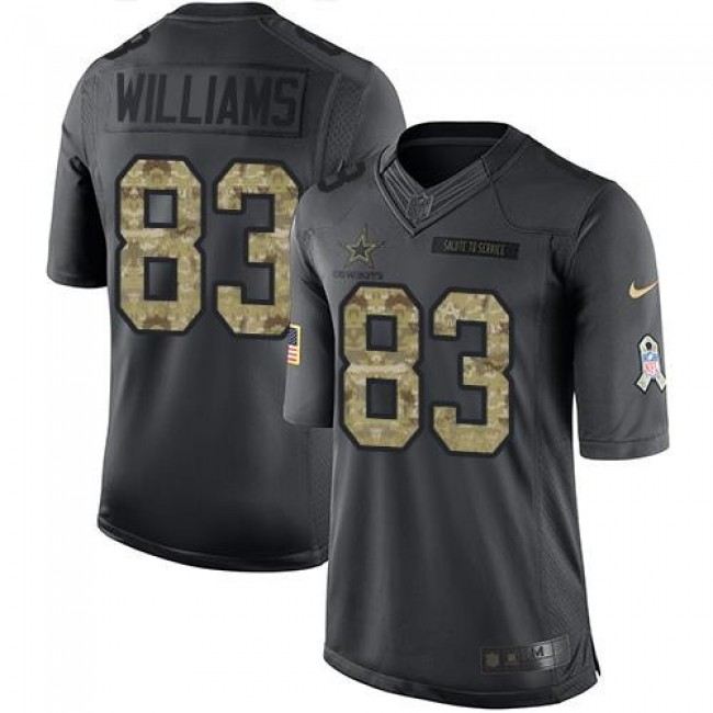 Nike Cowboys #83 Terrance Williams Black Men's Stitched NFL Limited 2016 Salute To Service Jersey