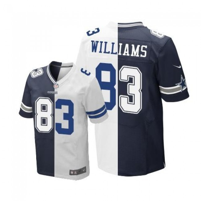 Nike Cowboys #83 Terrance Williams Navy Blue/White Men's Stitched NFL Elite Split Jersey