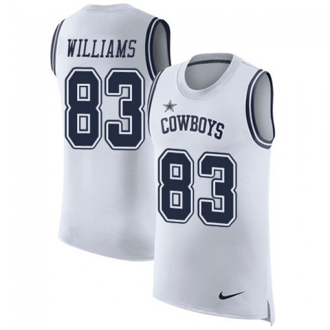 Nike Cowboys #83 Terrance Williams White Men's Stitched NFL Limited Rush Tank Top Jersey