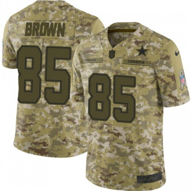 Nike Cowboys #85 Noah Brown Camo Men's Stitched NFL Limited 2018 Salute To Service Jersey