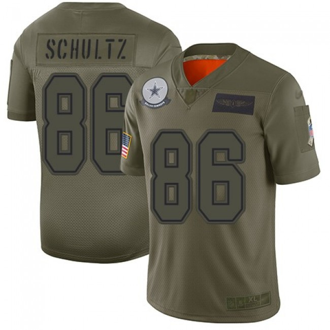 Nike Cowboys #86 Dalton Schultz Camo Men's Stitched NFL Limited 2019 Salute To Service Jersey