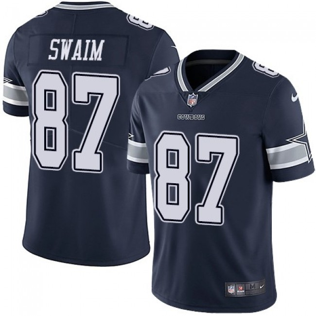 Nike Cowboys #87 Geoff Swaim Navy Blue Team Color Men's Stitched NFL Vapor Untouchable Limited Jersey