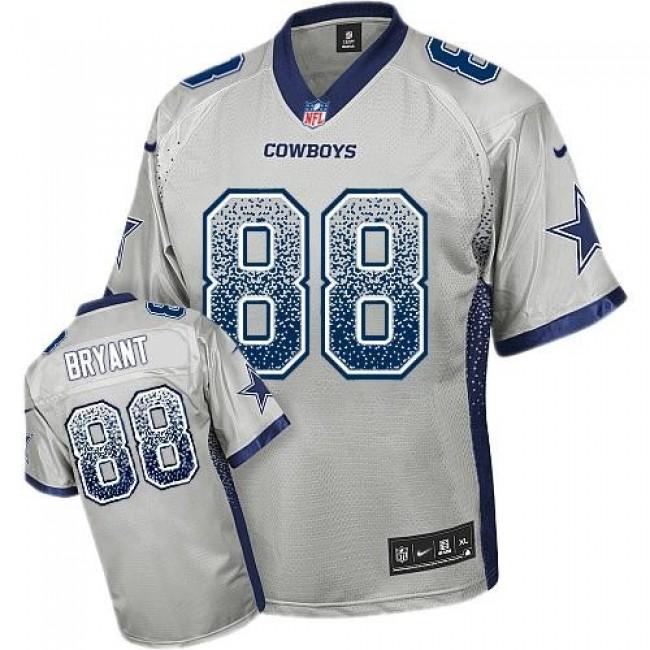 Dallas Cowboys #88 Dez Bryant Grey Youth Stitched NFL Elite Drift Fashion Jersey