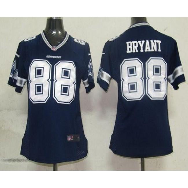 Women's Cowboys #88 Dez Bryant Navy Blue Team Color Stitched NFL Elite Jersey