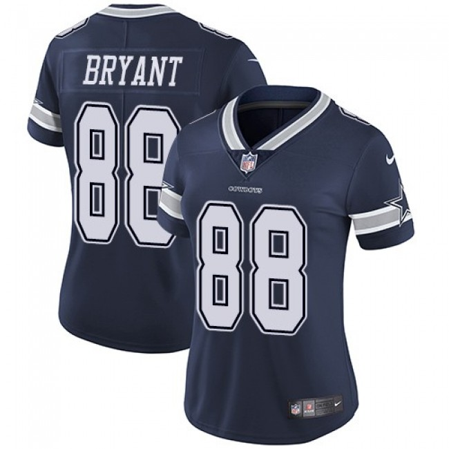 Women's Cowboys #88 Dez Bryant Navy Blue Team Color Stitched NFL Vapor Untouchable Limited Jersey