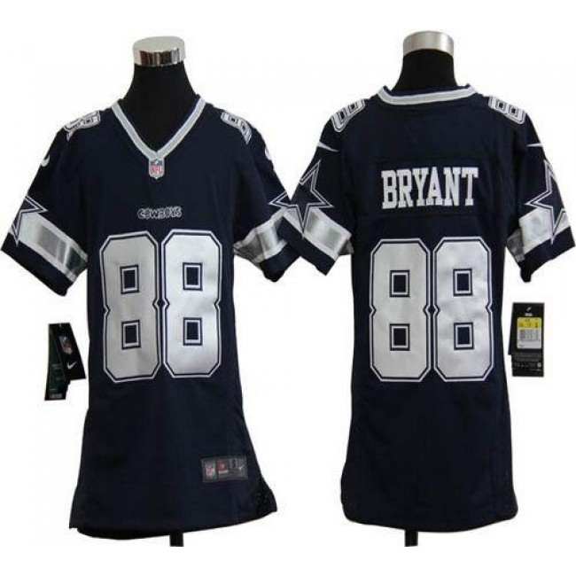 Dallas Cowboys #88 Dez Bryant Navy Blue Team Color Youth Stitched NFL Elite Jersey